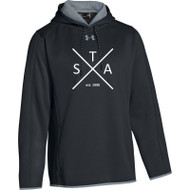 SAQ UA Men's Double Threat Fleece Hoody - Black