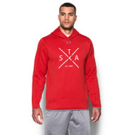 SAQ UA Men's Double Threat Fleece Hoody - Red