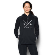 SAQ UA Women's Double Threat Fleece Hoody - Black