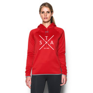 SAQ UA Women's Double Threat Fleece Hoody - Red
