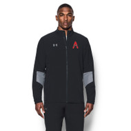 SAQ Men's Under Armour Squad Woven Warm-Up Jacket - Black