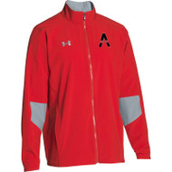 SAQ Men's Under Armour Squad Woven Warm-Up Jacket - Red