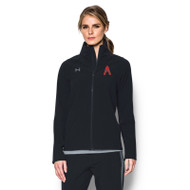 SAQ Under Armour Women's Squad Woven Warm-Up Jacket - Black
