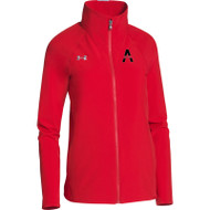 SAQ Under Armour Women's Squad Woven Warm-Up Jacket - Red