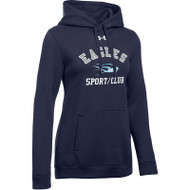 SMC Under Armour Women's Hustle Fleece Hoody - Navy (SMC-022-NY)