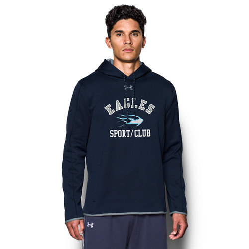 SMC Under Armour Men's Double Threat Fleece Hoody - Navy/Steel (SMC-023-NY)