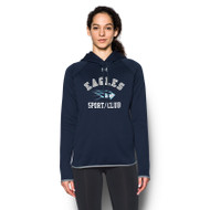 SMC Under Armour Women's Double Threat Fleece Hoody - Navy/Steel (SMC-024-NY