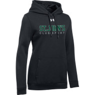 SJC Under Armour Women's Hustle Hoody - Black (SJC-021-BK)