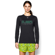 SJC Under Armour Women's Long Sleeve Locker Tee - Black (SJC-023-BK)