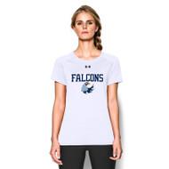 MHS Under Armour Women's Short Sleeve Locker T-Shirt- White (MHS-028-WH)