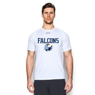 MHS Under Armour Men's Short Sleeve Locker T-Shirt - White (MHS-009-WH)
