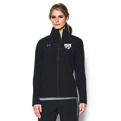 JP2 Under Armour Women's Squad Woven Jacket - Black/Steel (JP2-121-BK)