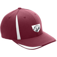 JP2 Flexfit ATB102 - Pro Performance Front Sweep Cap - Maroon/White (JP2-055-MA)