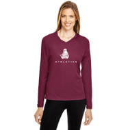 BCI Team 365 Women's Zone Performance Long Sleeve T-Shirt - Maroon (BCI-032-MA)