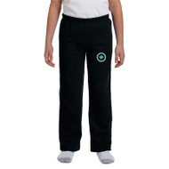 ESP Gildan Heavy Blend Youth Open Bottom Sweatpants - Black (ESP-048-BK)