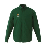 CSS Preston Men's Long Sleeve Shirt - Forest Green (CSS-070-FO)