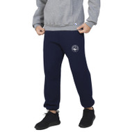 HSS Russell Men's Dri-Power Closed-Bottom Pocket Sweatpant with Pockets - Navy (HSS-012-NY)