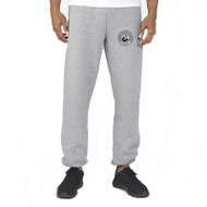 HSS Russell Men's Dri-Power Closed-Bottom Pocket Sweatpant with Pockets - Oxford Grey (HSS-012-GY)