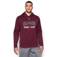 JCS Under Armour Men's Double Threat Fleece Hoody - Maroon