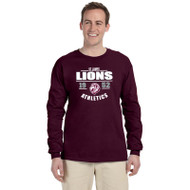 JCS Gildan Adult Ultra Cotton Long-Sleeve T-Shirt - Maroon (JCS-012-MA)