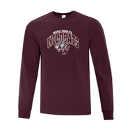 Maple Ridge Wildcats ATC Everyday Cotton Long Sleeve Youth Tee - Maroon (MRW-011-MR)