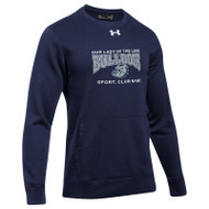 OLL Under Armour Men's Hustle Fleece Crew - Navy (OLL-010-NY)
