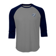 OLL ATC Men's Pro Team Baseball Jersey - Charcoal Heather/ True Navy (OLL-017-CH)