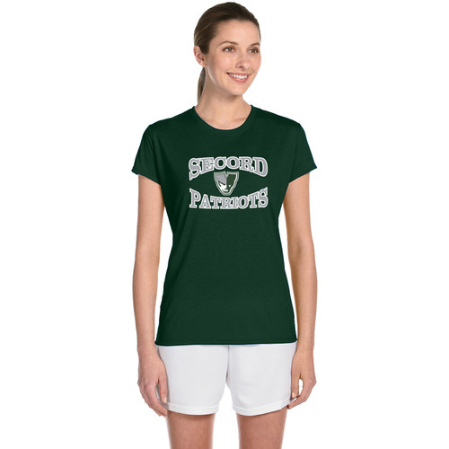 LSS Gildan Women's Performance Tee - Forest Green (LSS-031-FO)