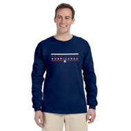 HLS Gildan Men's Ultra Cotton Long Sleeve T-Shirt - Navy (HLS-012-NY)