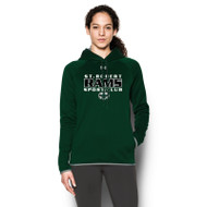 SRS Under Armour Women's Double Threat Fleece Hoody - Forest (SRS-021-FO)