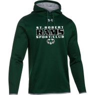 SRS Under Armour Men's Double Threat Fleece Hoody - Forest (SRS-001-FO)