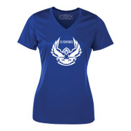 EDN ATC Women's Pro Team Short Sleeve V-Neck Ladies' T-shirt - Royal (EDN-033-RO)