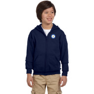 CS Gildan Youth Heavy Blend Full-Zip Hoodie - Navy (SCS-050-NY)