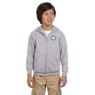 SCS Gildan Youth Heavy Blend Full-Zip Hoodie - Sport Grey (SCS-050-GY)