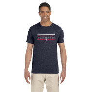 HLS Gildan Men's Softstyle Fitted T-Shirt - Navy Heather (HLS-011-NH)