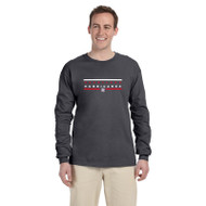 HLS Gildan Men's Ultra Cotton Long Sleeve T-Shirt - Dark Heather (HLS-012-DH)