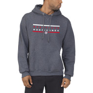 HLS Russell Men's Dri-Power Fleece Hoodie - Black Heather (HLS-013-BH)