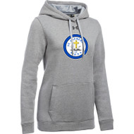 SCS Under Armour Women's Hustle Fleece Hoody - True Grey (SCS-021-GY)