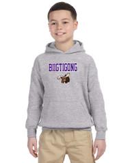 BNE Gildan Youth HeavyBlend Hood Sweatshirt - Sport Grey (BNE-047-SG)