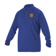 LCP Alleson Adult Curling Quarter-Zip Pullover - Royal (LPC-112-RO)