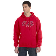 SLS Russell Men's Dri-Power Fleece Hoodie (Embroidered) - Red
