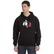 SLS Russell Men's Dri-Power Fleece Hoodie (Screen) - Black (SLS-012-BK)