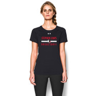 SLSS Under Armour Women's Short Sleeve Locker Tee - Black (SLS-021-BK)