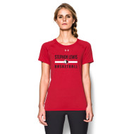 SLS Under Armour Women's Short Sleeve Locker Tee - Red (SLS-021-RE)