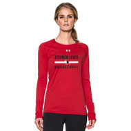 SLS Under Armour Women's Locker Long Sleeve T-Shirt - Red (SLS-022-RE)