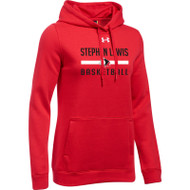 SLS Under Armour Women's Hustle Fleece Hoody - Red (SLS-023-RE)