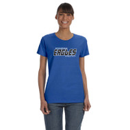 FBS Gildan Women's Cotton Short Sleeve T-Shirt - Royal (FBS-033-RO)