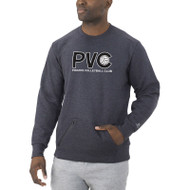 GPH Russell Men's Cotton Rich Fleece Crew Sweatshirt - Charcoal Grey Heather (GPH-011-CG)