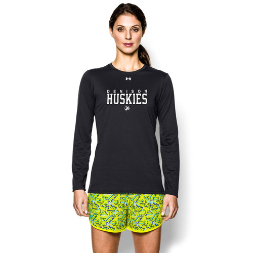 DHS Under Armour Women's Long Sleeve Locker T-Shirt - Black (DHS-021-BK)