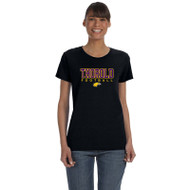 TSS Gildan Women's Cotton T shirt - Black (TSS-033-BK)